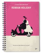 No205 My Roman Holiday Minimal Movie Poster Spiral Notebook