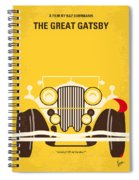 No206 My The Great Gatsby Minimal Movie Poster Spiral Notebook