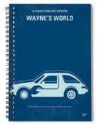 No211 My Waynes World Minimal Movie Poster Spiral Notebook