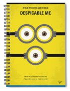 No213 My Despicable Me Minimal Movie Poster Spiral Notebook