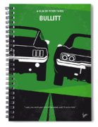 No214 My Bullitt Minimal Movie Poster Spiral Notebook