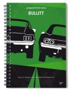 No214 My Bullitt Minimal Movie Poster Spiral Notebook