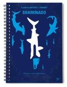 No216 My Sharknado Minimal Movie Poster Spiral Notebook