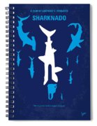 No216 My Sharknado Minimal Movie Poster Spiral Notebook