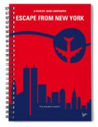 No219 My Escape From New York Minimal Movie Poster Spiral Notebook