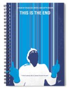 No220 My This Is The End Minimal Movie Poster Spiral Notebook
