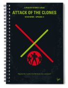 No224 My Star Wars Episode II Attack Of The Clones Minimal Movie Poster Spiral Notebook