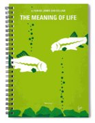 No226 My The Meaning Of Life Minimal Movie Poster Spiral Notebook