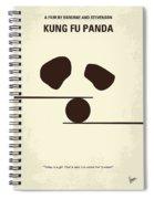 No227 My Kung Fu Panda Minimal Movie Poster Spiral Notebook