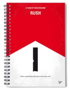 No228 My Rush Minimal Movie Poster Spiral Notebook