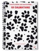 No229 My 101 Dalmatians Minimal Movie Poster Spiral Notebook