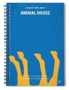 No230 My Animal House Minimal Movie Poster Spiral Notebook