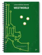 No231 My Westworld Minimal Movie Poster Spiral Notebook