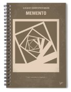 No243 My Memento Minimal Movie Poster Spiral Notebook