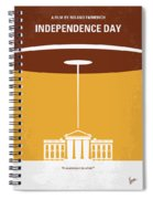 No249 My Independence Day Minimal Movie Poster Spiral Notebook