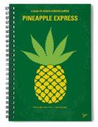 No264 My Pineapple Express Minimal Movie Poster Spiral Notebook