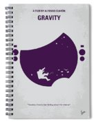 No269 My Gravity Minimal Movie Poster Spiral Notebook