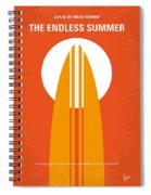 No274 My The Endless Summer Minimal Movie Poster Spiral Notebook