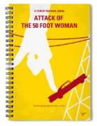 No276 My Attack Of The 50 Foot Woman Minimal Movie Poster Spiral Notebook