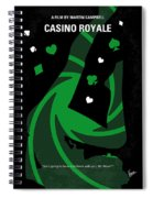 No277-007-2 My Casino Royale Minimal Movie Poster Spiral Notebook