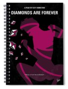 No277-007 My Diamonds Are Forever Minimal Movie Poster Spiral Notebook