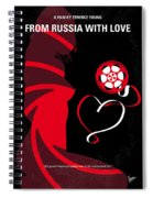 No277-007 My From Russia With Love Minimal Movie Poster Spiral Notebook