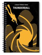 No277-007 My Thunderball Minimal Movie Poster Spiral Notebook