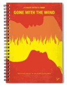 No299 My Gone With The Wind Minimal Movie Poster Spiral Notebook