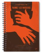 No305 My Nine Half Weeks Minimal Movie Poster Spiral Notebook