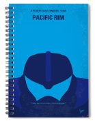 No306 My Pacific Rim Minimal Movie Poster Spiral Notebook