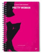 No307 My Pretty Woman Minimal Movie Poster Spiral Notebook