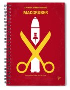 No317 My Macgruber Minimal Movie Poster Spiral Notebook