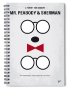 No324 My Mr Peabody Minimal Movie Poster Spiral Notebook