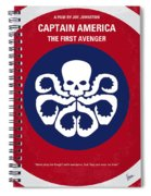No329 My Captain America - 1 Minimal Movie Poster Spiral Notebook