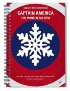 No329 My Captain America - 2 Minimal Movie Poster Spiral Notebook