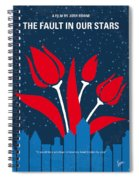 No340 My The Fault In Our Stars Minimal Movie Poster Spiral Notebook
