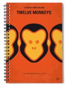 No355 My 12 Monkeys Minimal Movie Poster Spiral Notebook
