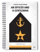 No388 My An Officer And A Gentleman Minimal Movie Poster Spiral Notebook