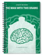 No390 My The Man With Two Brains Minimal Movie Poster Spiral Notebook