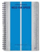 No407 My Need For Speed Minimal Movie Poster Spiral Notebook