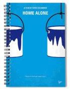 No427 My Home Alone Minimal Movie Poster Spiral Notebook