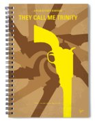 No431 My They Call Me Trinity Minimal Movie Poster Spiral Notebook