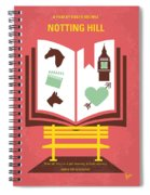 No434 My Notting Hill Minimal Movie Poster Spiral Notebook