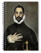 Nobleman With His Hand On His Chest Spiral Notebook
