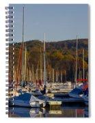 Nockamixon Marina In Autumn Spiral Notebook