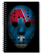 Nordiques Jersey Mask Spiral Notebook