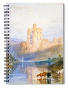Norham Castle An Illustration To Marmion By Sir Walter Scott Spiral Notebook