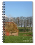 Normandy Storm Damaged Barn Spiral Notebook