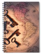 North America And Old Keys Spiral Notebook