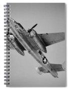 North American B-25 Mitchell Bw Spiral Notebook
